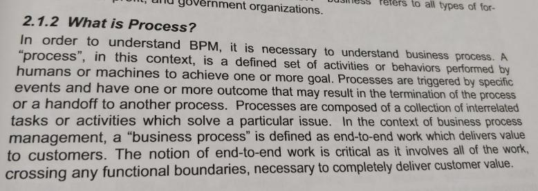 Определение бизнес-процесса, чтобы определить требования к BPMS